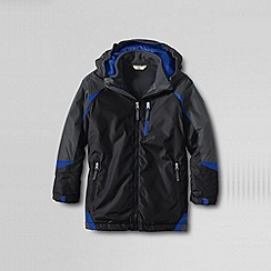 Lands' End - Black boys' stormer 3-in-1 system parka