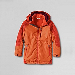 Lands' End - Orange boys' stormer 3-in-1 system parka