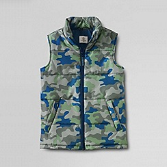 Lands' End - Grey boys' patterned insulated gilet