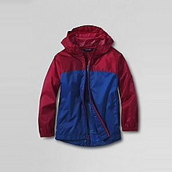 Lands' End - Red boys' colourblock packable navigator rain jacket