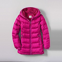 Lands' End - Pink girls' down parka