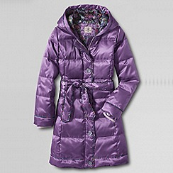 Lands' End - Purple girls' fashion down coat
