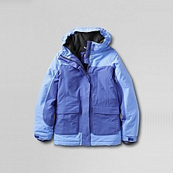 Lands' End - Blue girls' waterproof squall parka