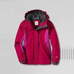 Lands' End - Pink girls' waterproof squall jacket