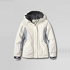 Lands' End - Cream girls' waterproof squall jacket