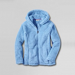 Lands' End - Blue girls' plush fleece hoodie