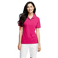 Lands' End - Red petite pique slim fit polo