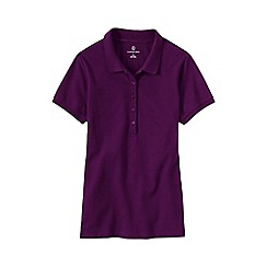 Lands' End - Purple women's pique slim fit polo