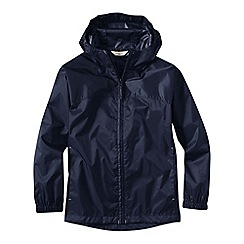 Lands' End - Blue little boys' packable navigator rain jacket