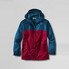 Lands' End - Blue little boys' colourblock packable navigator rain jacket