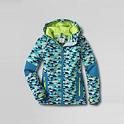 Lands' End - Blue girls' patterned stormer jacket