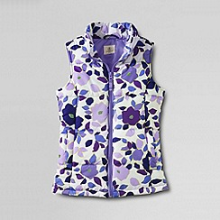 Lands' End - Purple girls' patterned insulated gilet