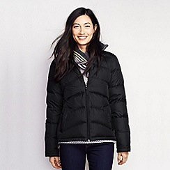 Lands' End - Black women's midweight down jacket