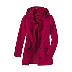 Lands' End - Red women's plus boiled wool hooded parka
