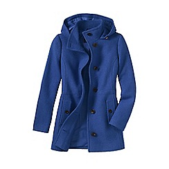 Lands' End - Blue women's plus boiled wool hooded parka
