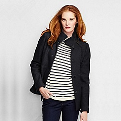 Lands' End - Black women's boiled wool jacket