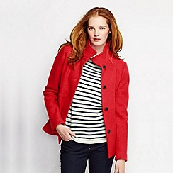 Lands' End - Orange women's boiled wool jacket