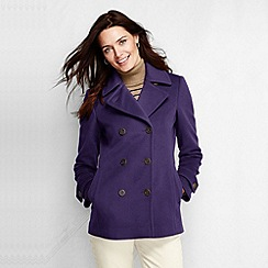 Lands' End - Purple women's wool cashmere blend pea coat