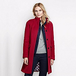 Lands' End - Red women's luxe wool walker coat