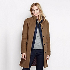 Lands' End - Brown women's luxe wool walker coat