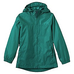 Lands' End - Blue little girls' plain packable navigator rain jacket