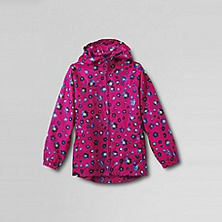Lands' End - Pink little girls' pattern packable navigator rain jacket