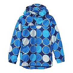 Lands' End - Blue little girls' pattern packable navigator rain jacket