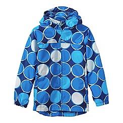 Lands' End - Blue little girls' pattern packable navigator rain jacket