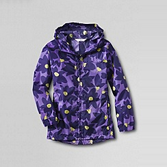 Lands' End - Purple girls' pattern packable navigator rain jacket