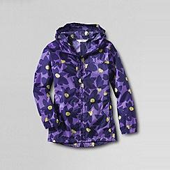 Lands' End - Purple girls' pattern packable navigator rain jacket