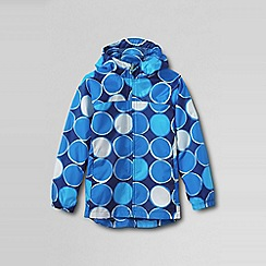Lands' End - Blue girls' pattern packable navigator rain jacket