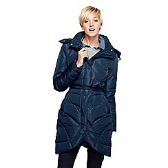 Lands' End - Blue tulip-hem down coat
