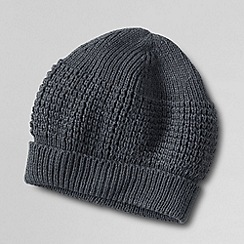 Lands' End - Grey men's cashtouch beanie hat
