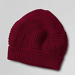 Lands' End - Red men's cashtouch beanie hat