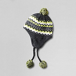 Lands' End - Grey women's pop colour fair isle peruvian hat