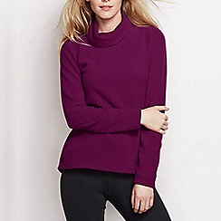 Lands' End - Purple women's polartec aircore 100 fleece roll neck
