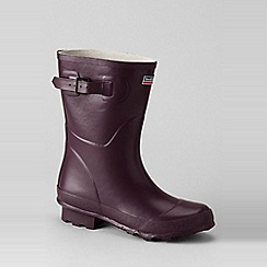 Lands' End - Purple town and country short wellington boots