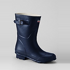 Lands' End - Blue town and country short wellington boots