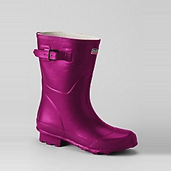 Lands' End - Pink town and country short wellington boots