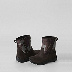 Lands' End - Brown kids' camo boots