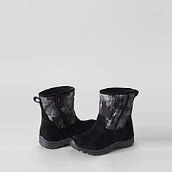 Lands' End - Black kids' camo boots