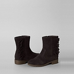 Lands' End - Brown girls' marley fringed boots