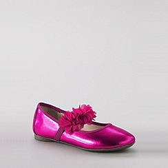Lands' End - Pink girls' gia mary jane shoes