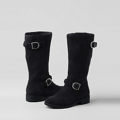 Lands' End - Black girls' molly riding boots