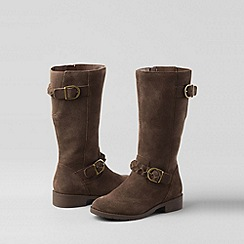 Lands' End - Brown girls' molly riding boots
