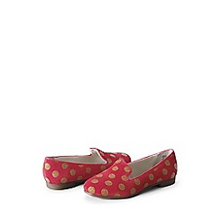 Lands' End - Pink girls' viva venetian slipper shoes