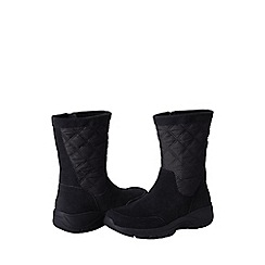 Lands' End - Black women's quilted side-zip boots
