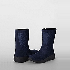 Lands' End - Blue women's quilted side-zip boots