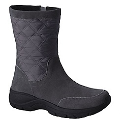 Lands' End - Grey women's quilted side-zip boots
