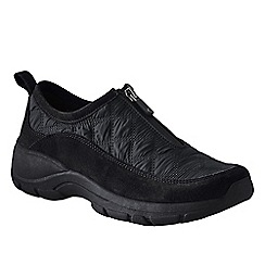 Lands' End - Black women's  zip-front shoes